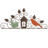 Birds & House Metal Wall Decor